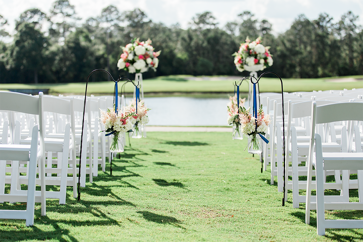 wedding ceremony in st.johns colf&country club