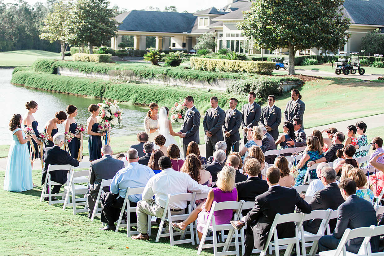 overlooking the wedding venue in st.johns golf&country club