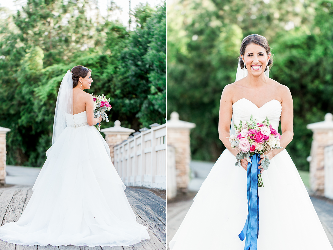 stunning bride in her Love Bridal Boutique wedding dress and   flowers by happily ever after floral