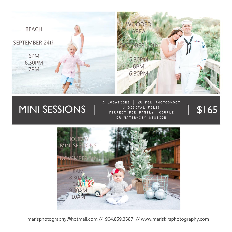 christmas mini sessions, beach mini sessions, jacksonville photography