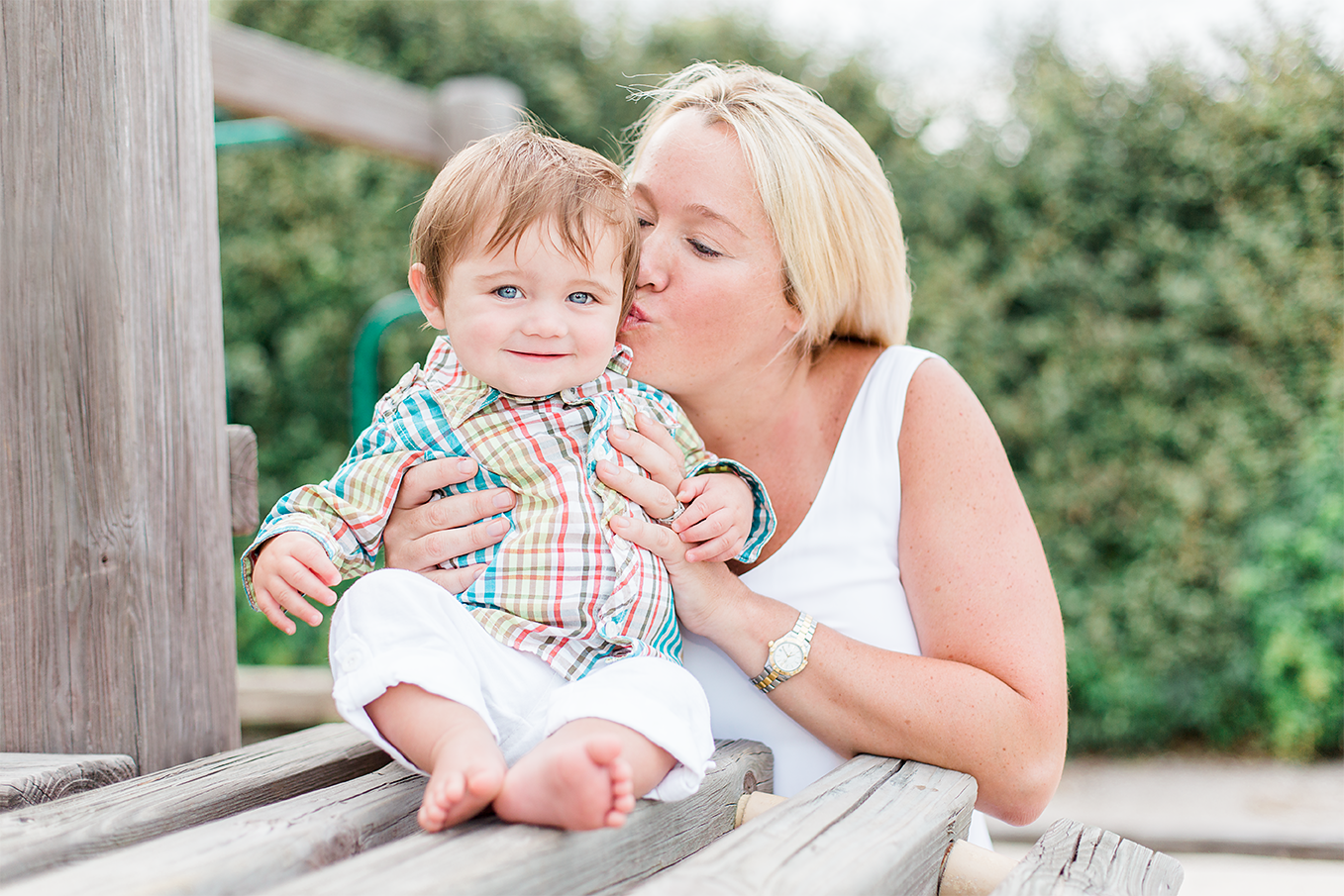 Mother-son pictures. Ponte Vedra, FL