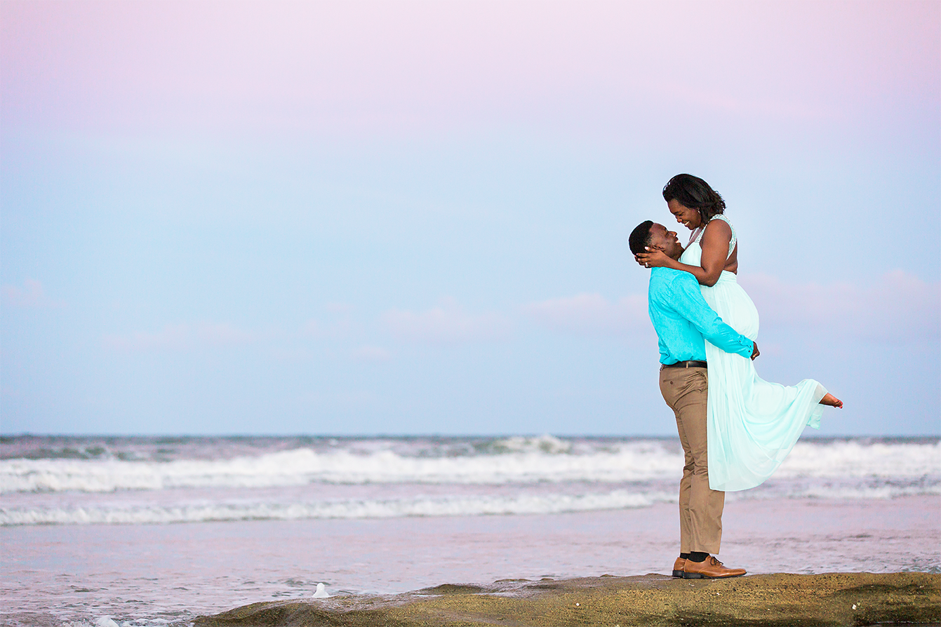 engagement session during the sunset in st.augustine beach