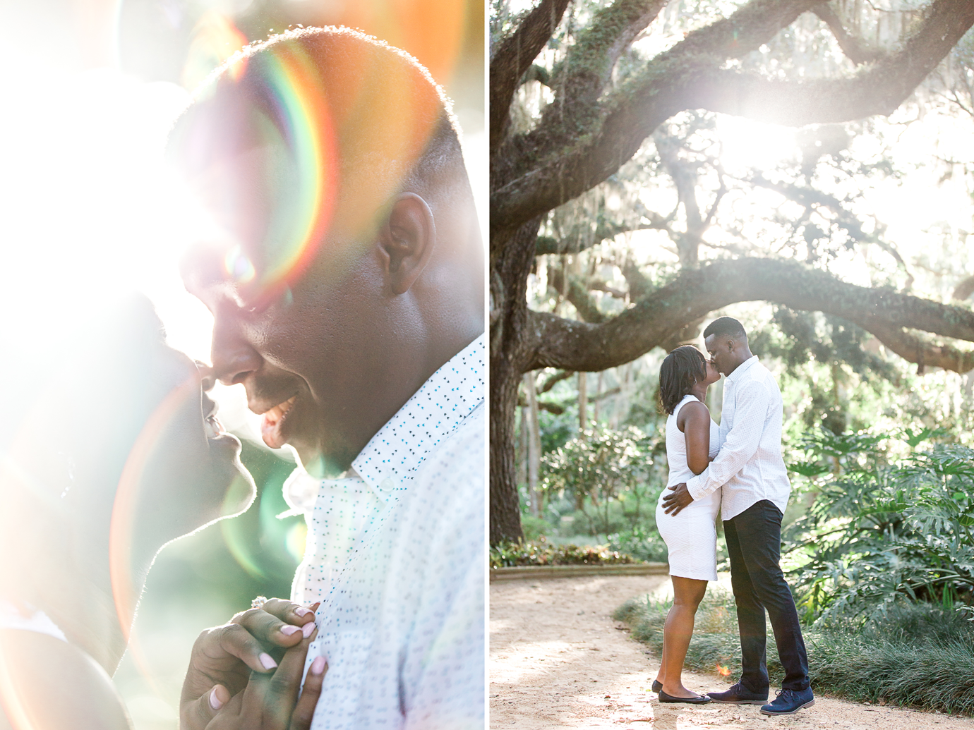 st.augustine engagement and wedding photographer. photoshoot in washington oaks gardens
