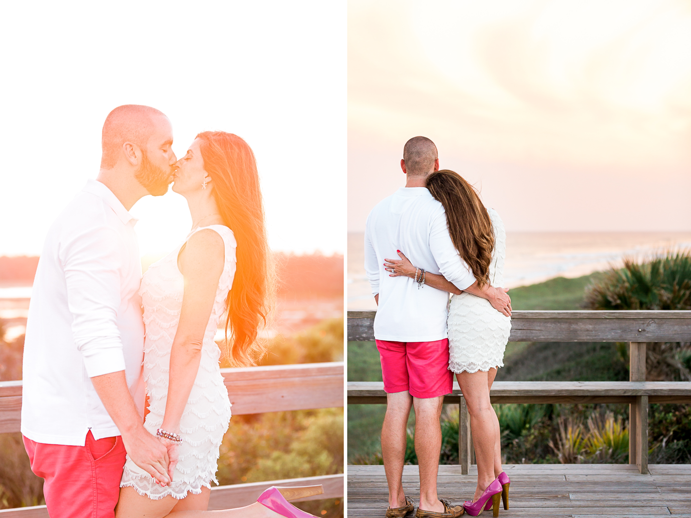 Sunset proposal at the beach