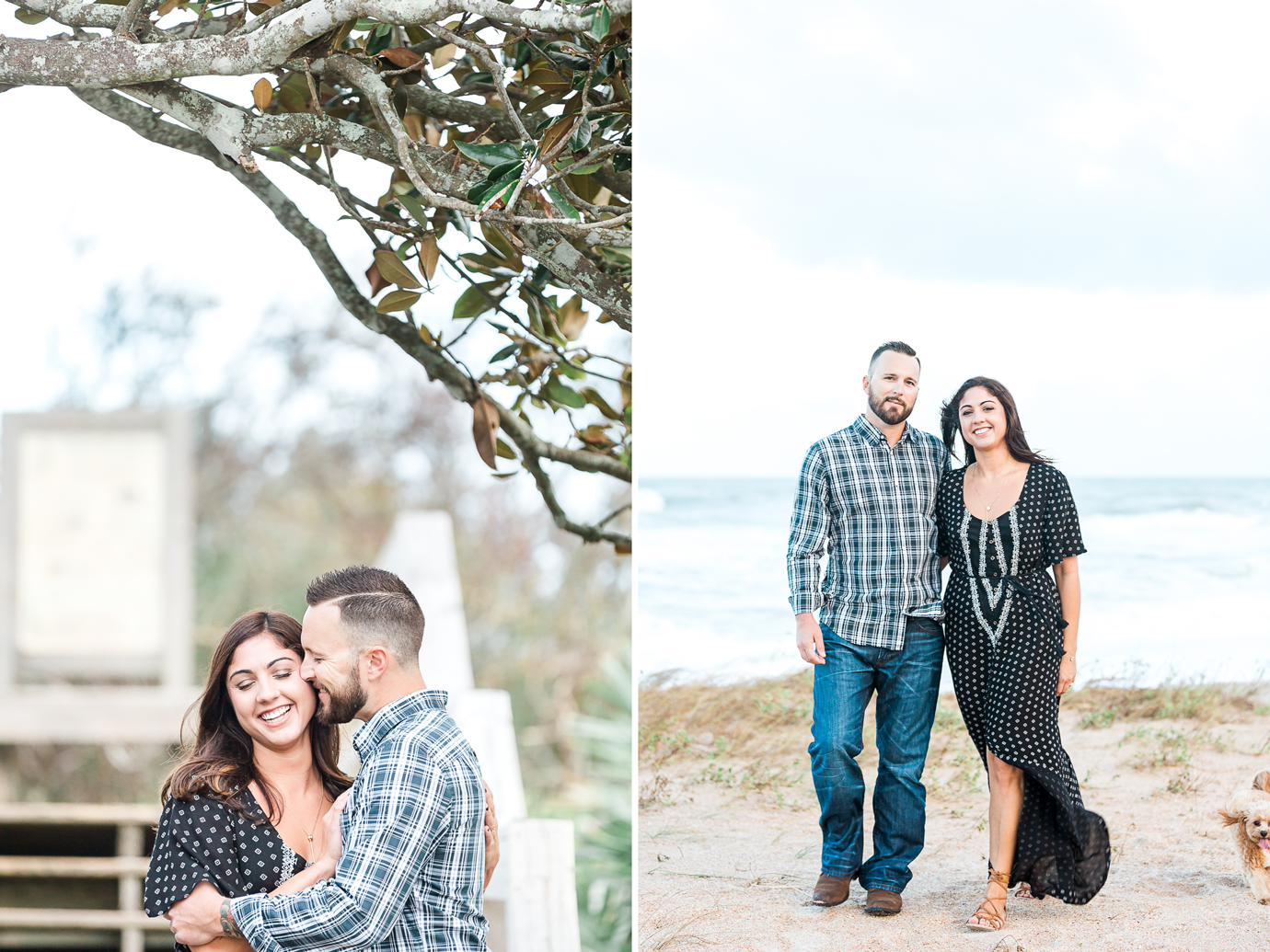 Romantic engagement photography session in Ponte Vedra