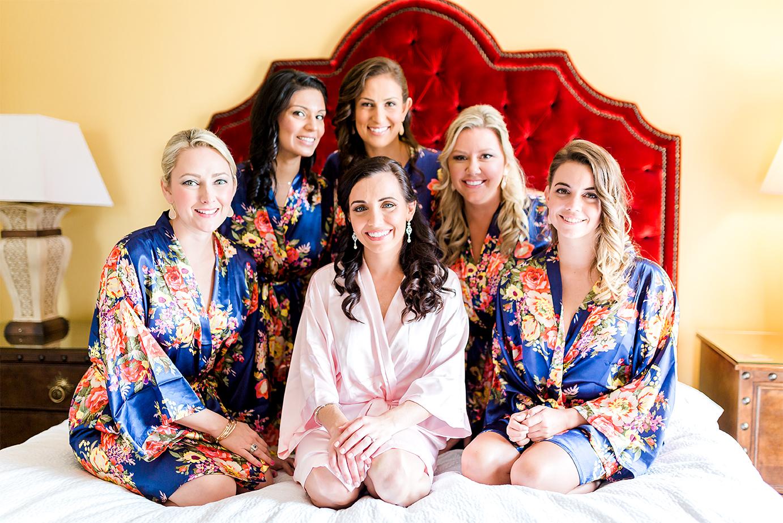 bride and bridesmaids in casa monica