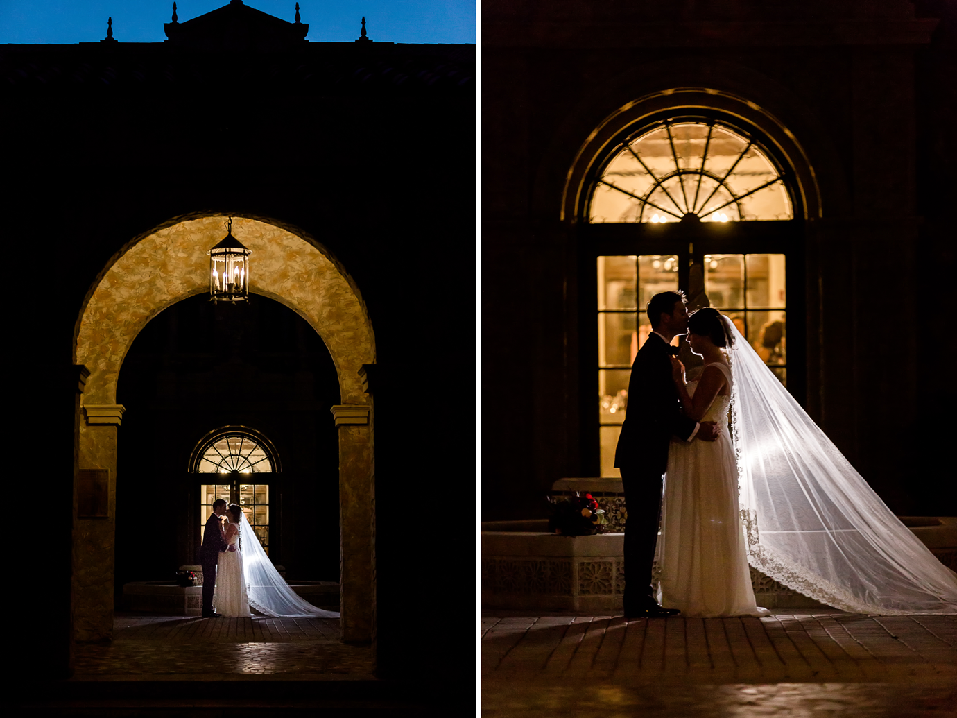 nighttime bride and groom pictures in jacksonville fl.png