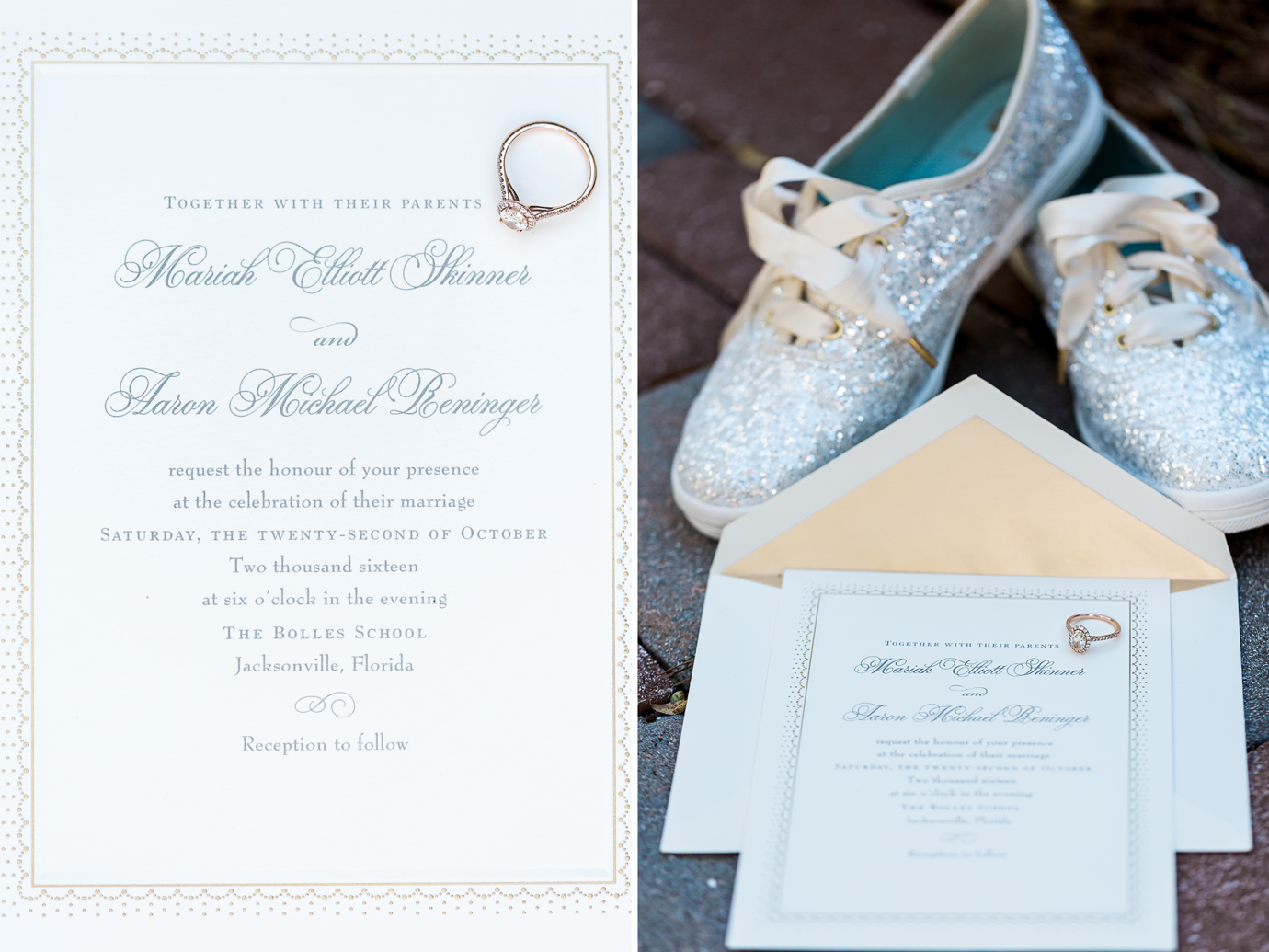 wedding details - invitation, rings and shoes.png