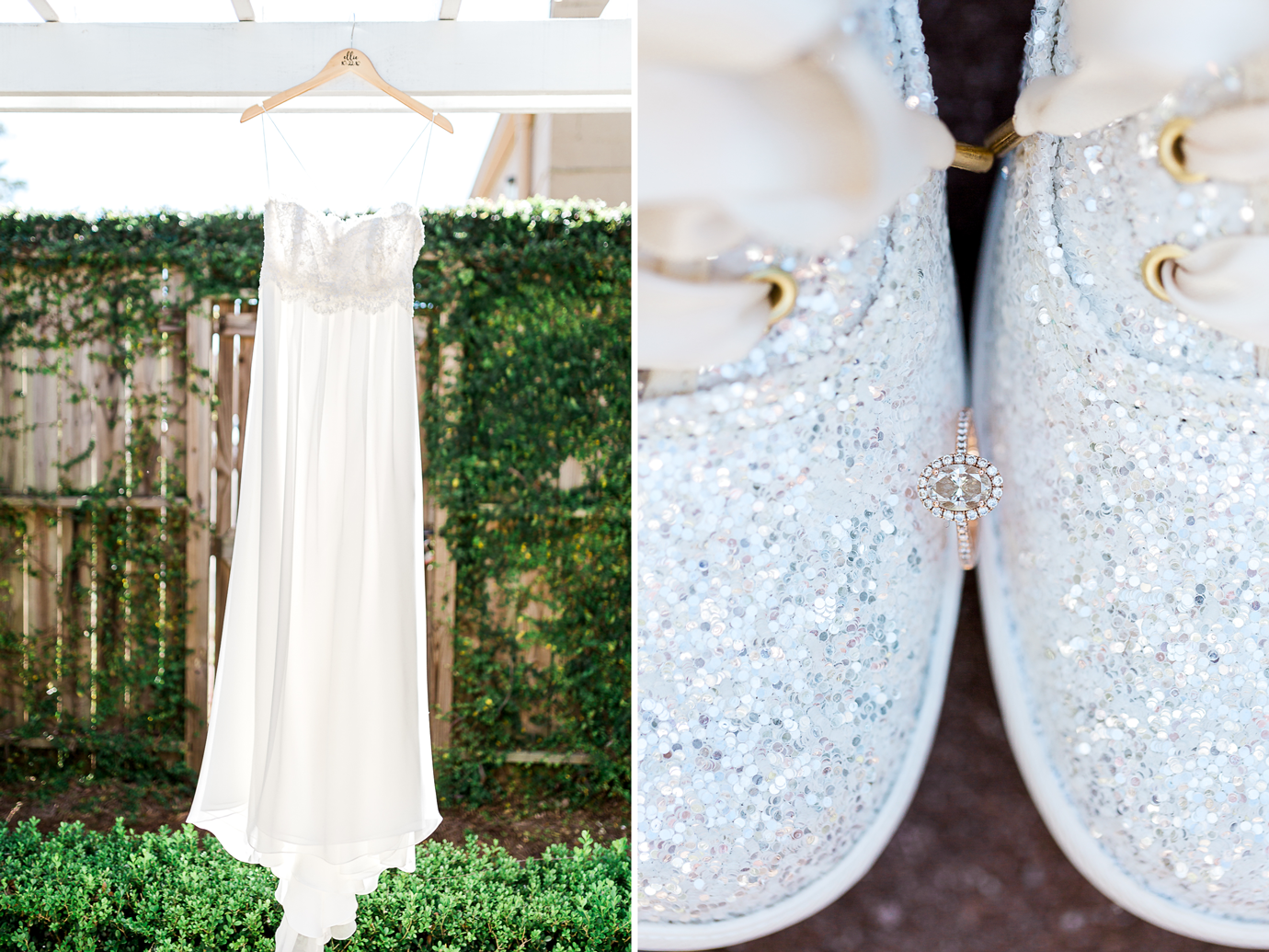 wedding dress by Linda Cunningham. Kate Spade shoes and ring. Wedding in jacksonville fl.png