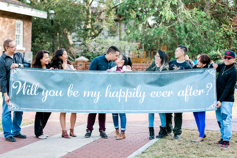 surprise proposal sign