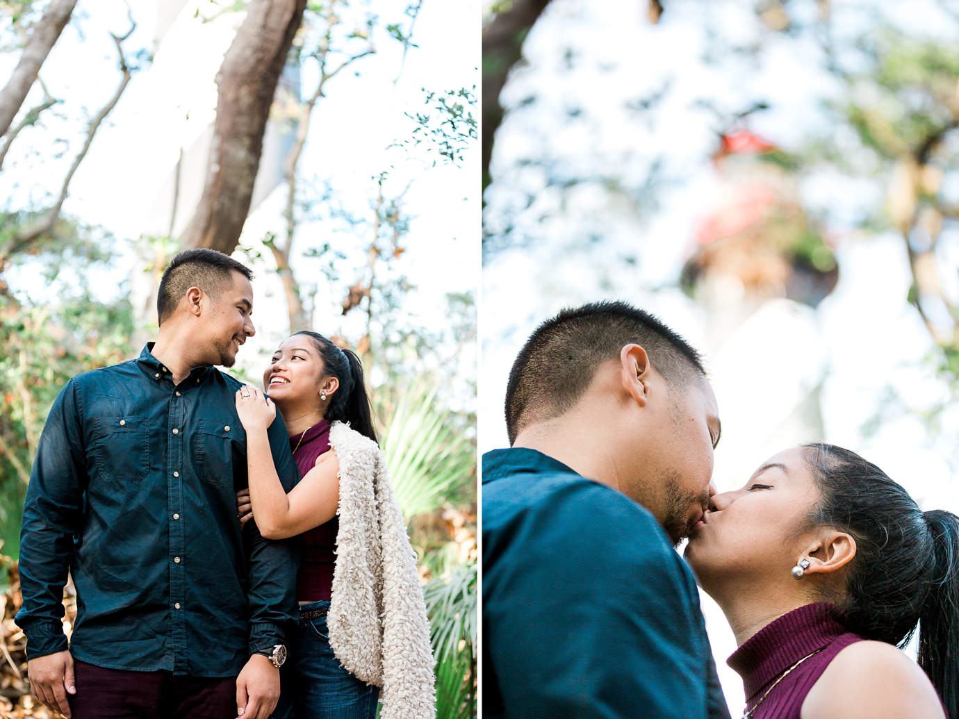 engagement photos in st.augustine lighthouse