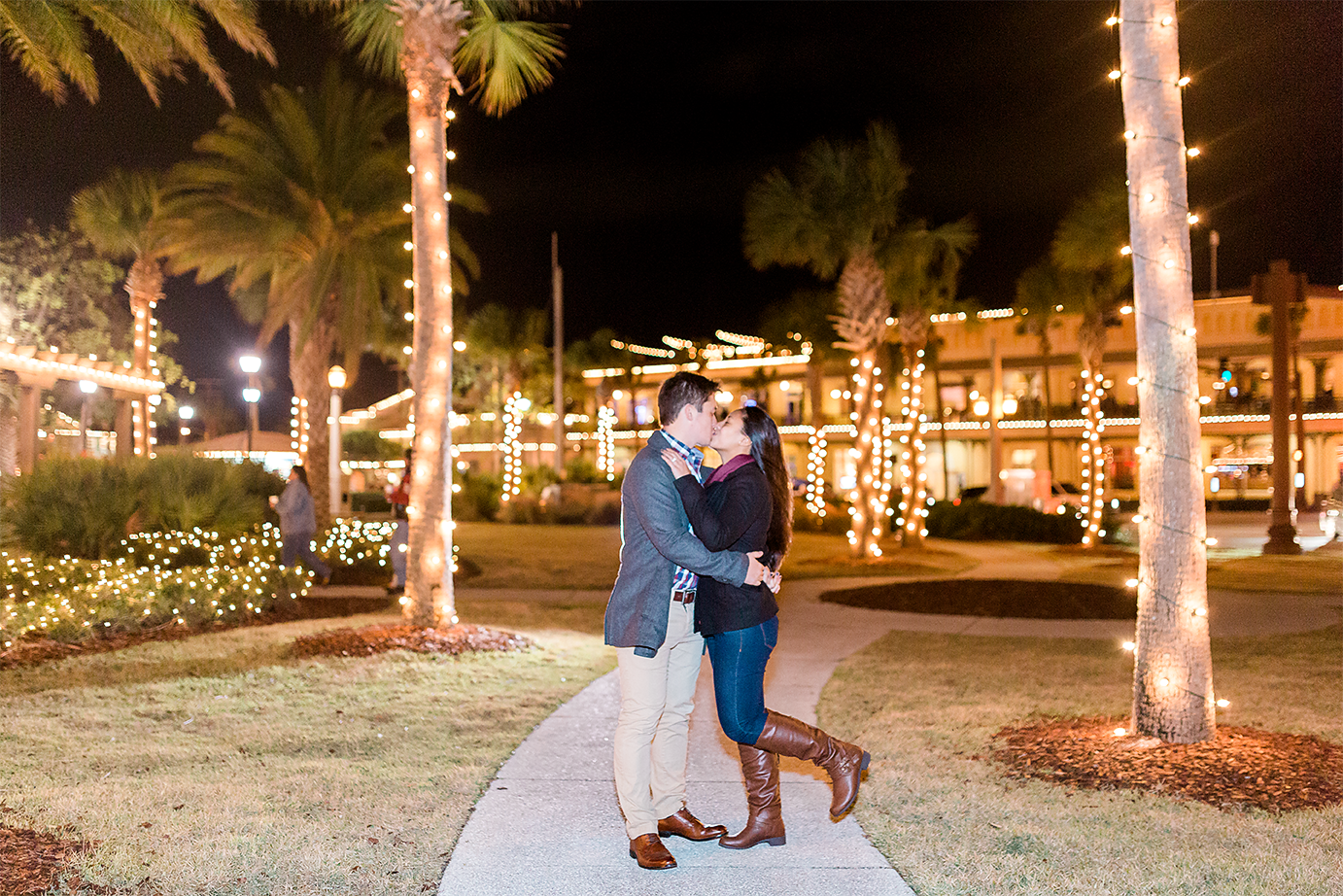 nights of lights surprise proposal in st.augustine, fl