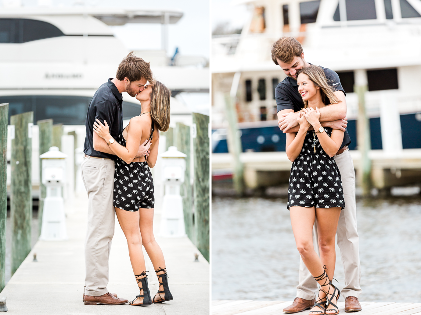 engagement photos with sailing boat