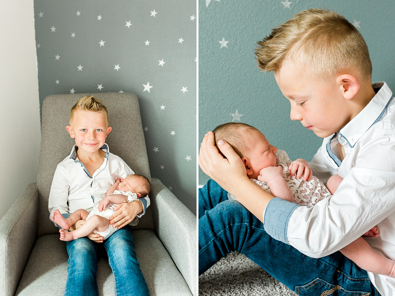 sibling newborn picture ideas