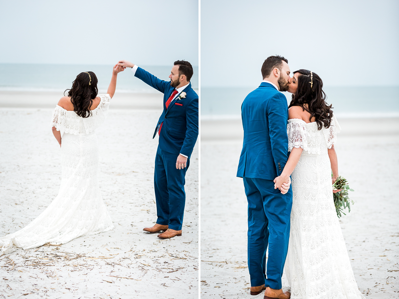 sweet bride and groom picture ideas at the beach