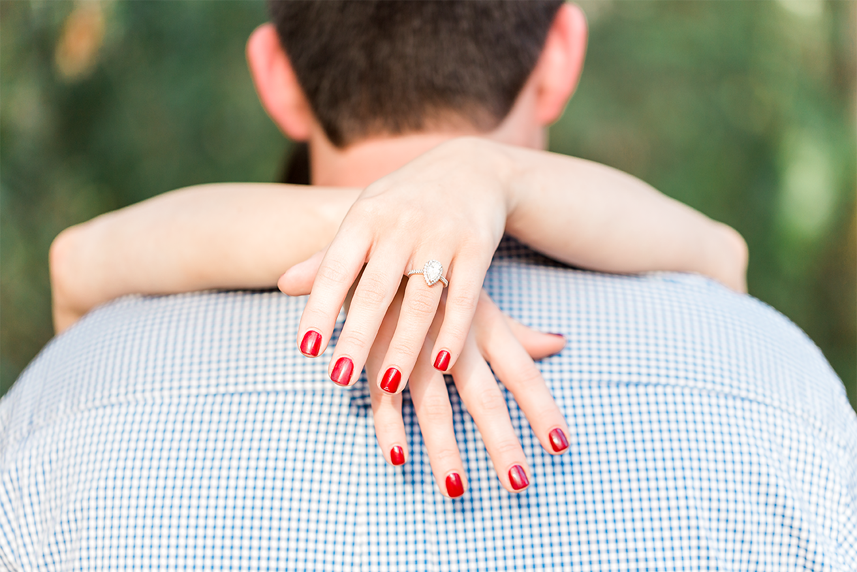 engagement ring detail shot