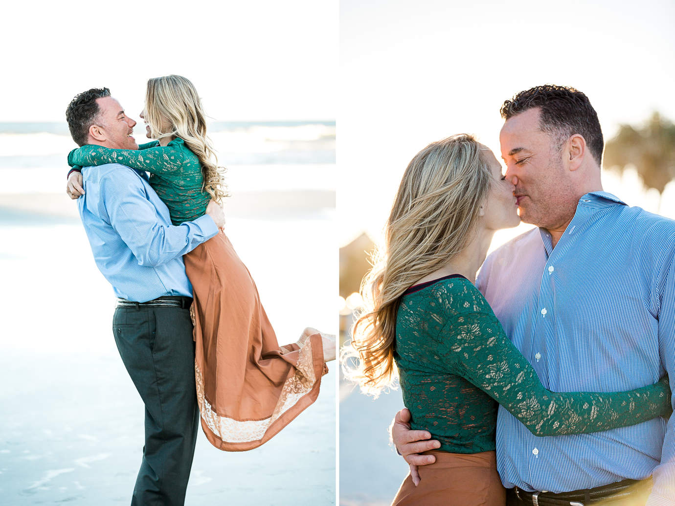 sunset engagement photos in jacksonville beach