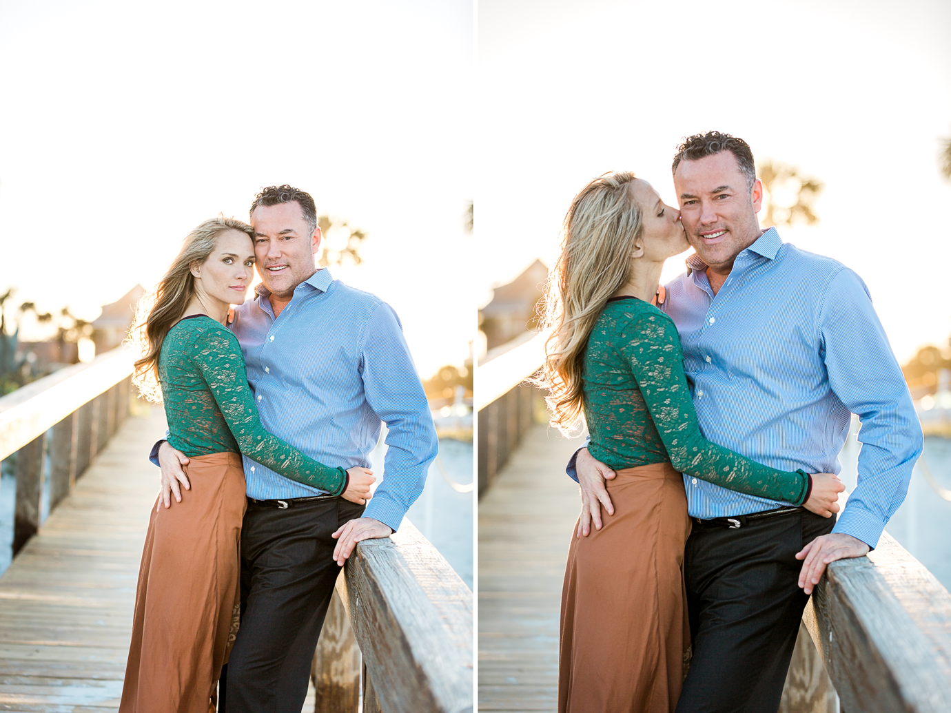 sunset engagement photos at the beach
