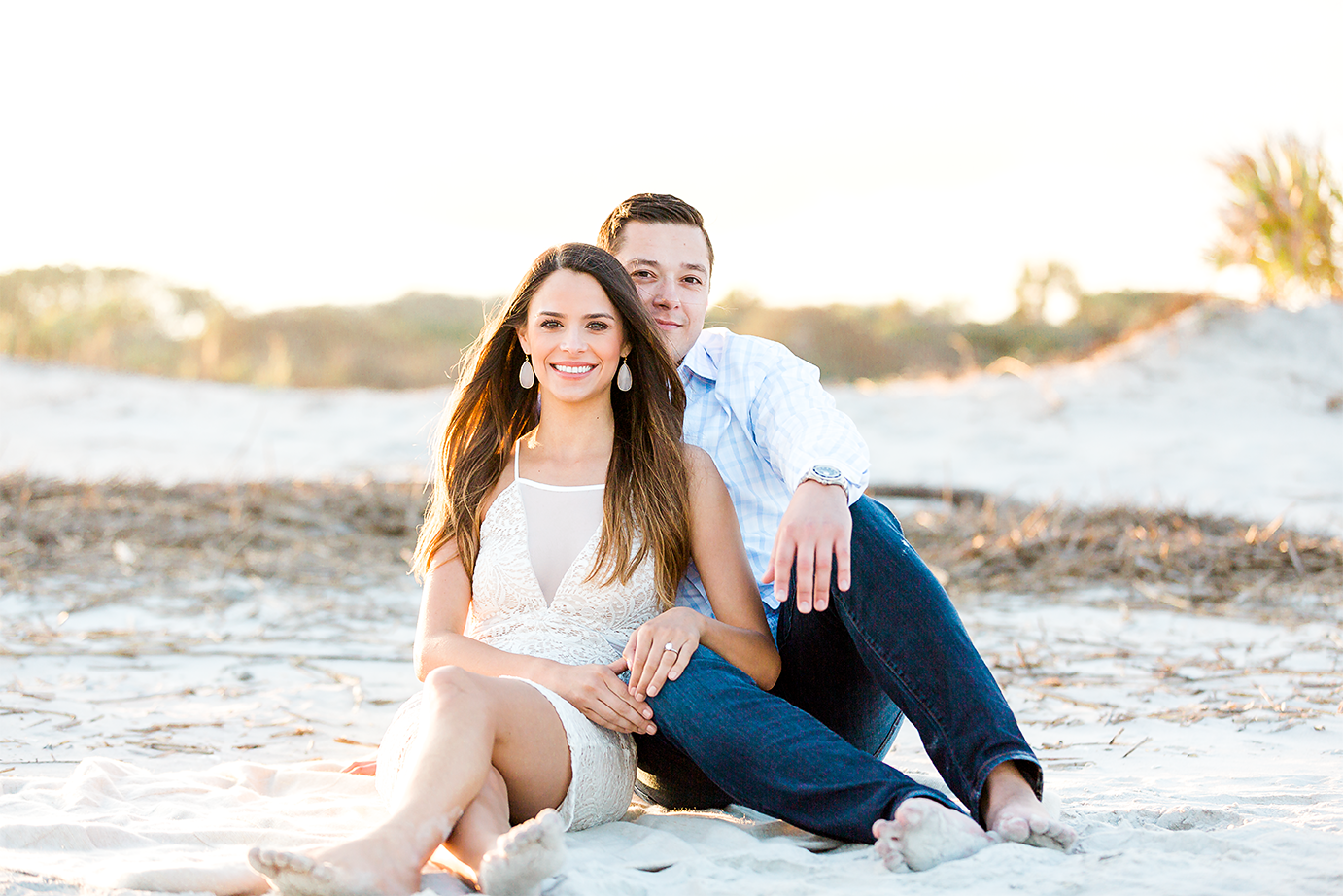 sunset engagement picture ideas