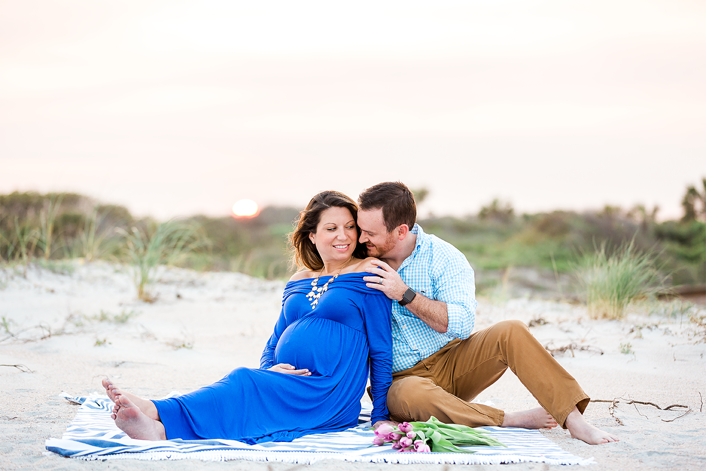 sunset beach maternity pictures Ponte Vedra, FL