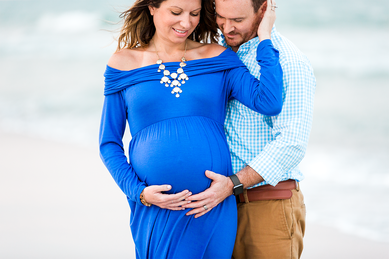 Beach maternity session in Jacksonville, FL