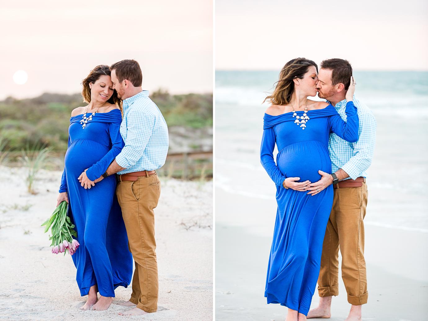 sunset maternity session in Hanna park, Jacksonville FL
