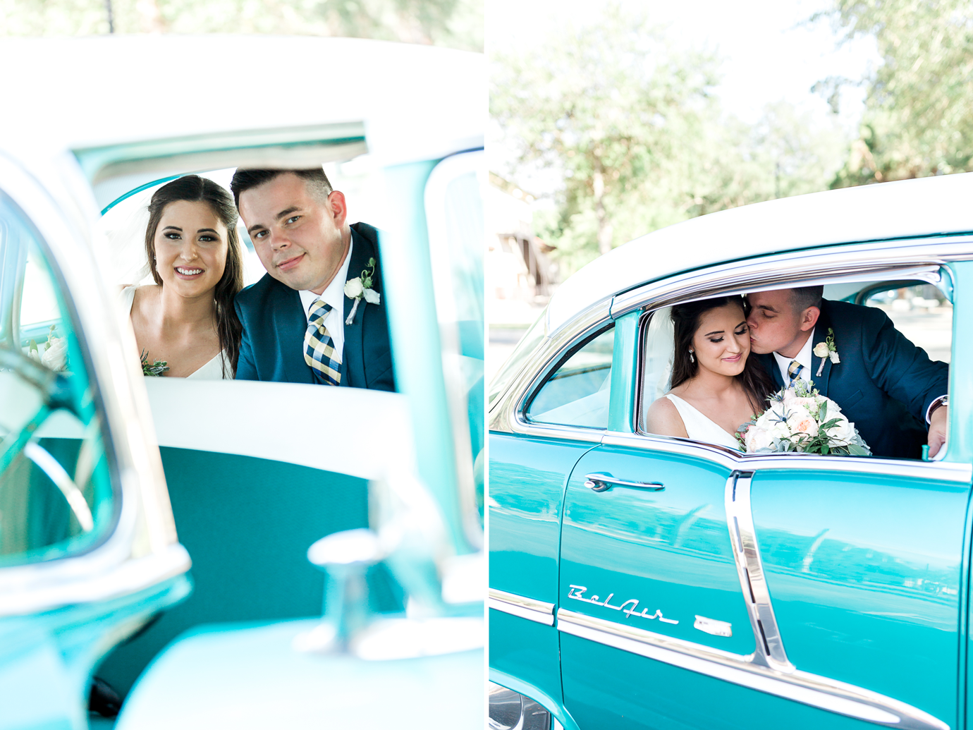 wedding picture ideas with a vintage car