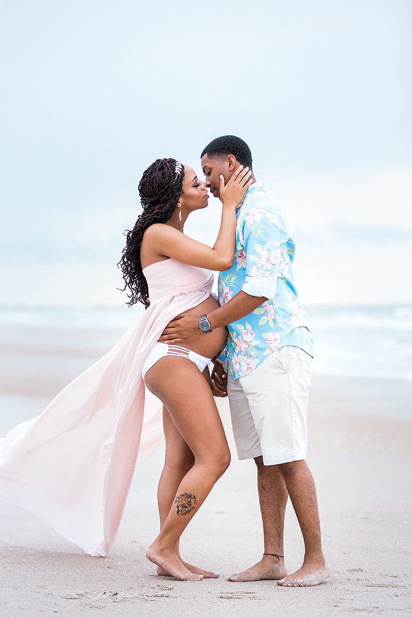 maternity photos at the beach in ponte vedra fl
