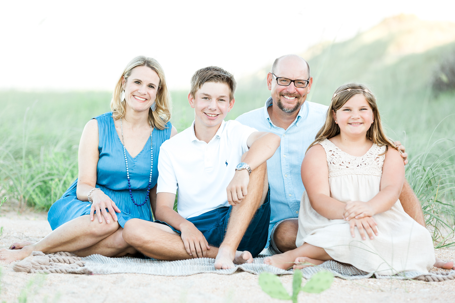 family photos at the beach in ponte vedra