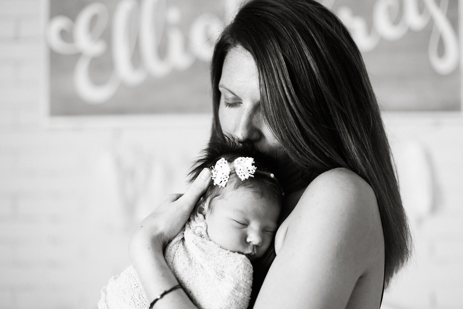 mommy and baby girl newborn pictures