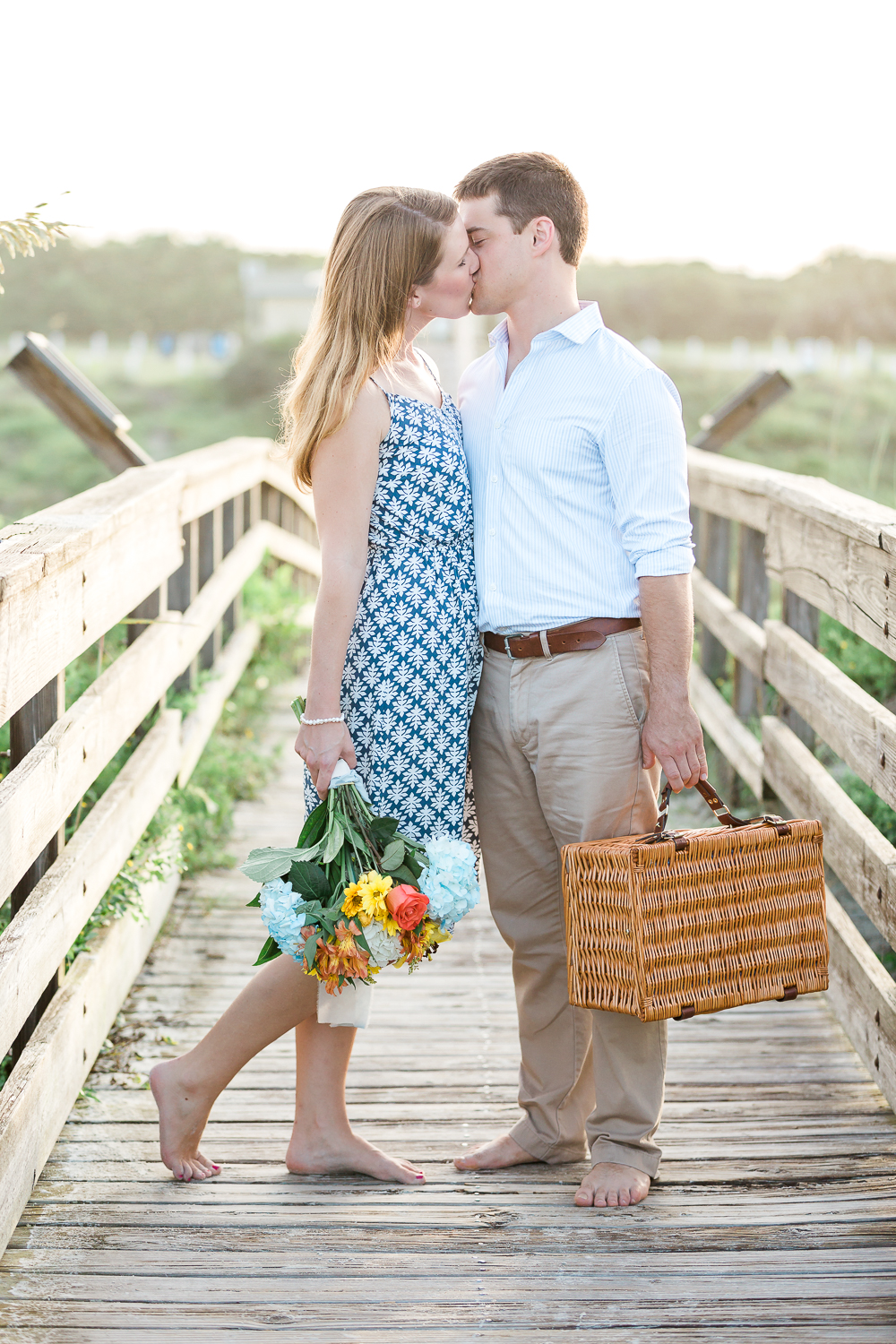 engagement session with a picnic