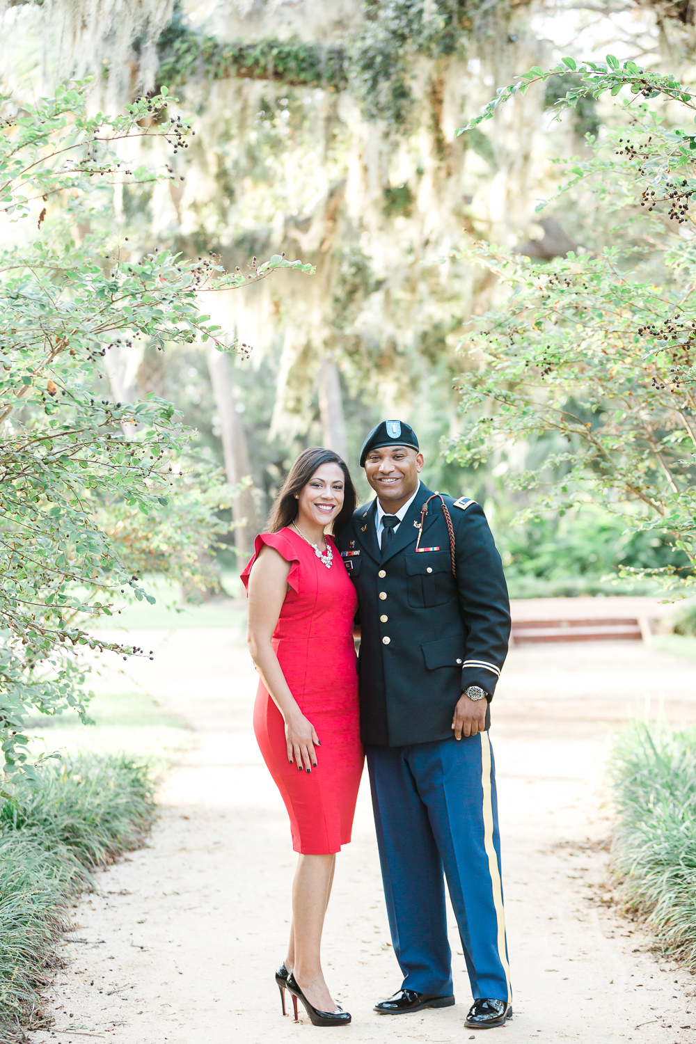 washington oaks gardens engagement session