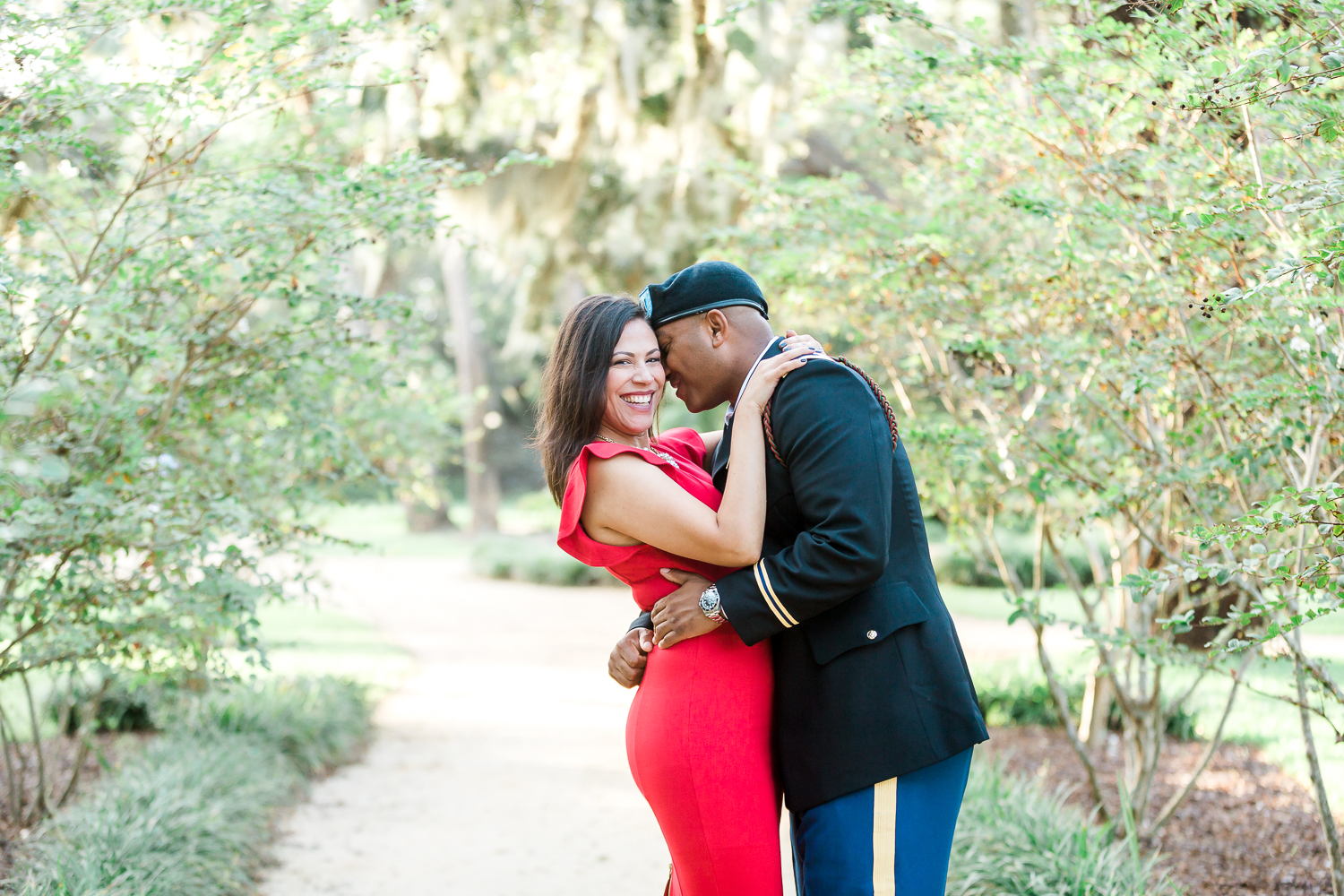 military uniform engagement session ideas