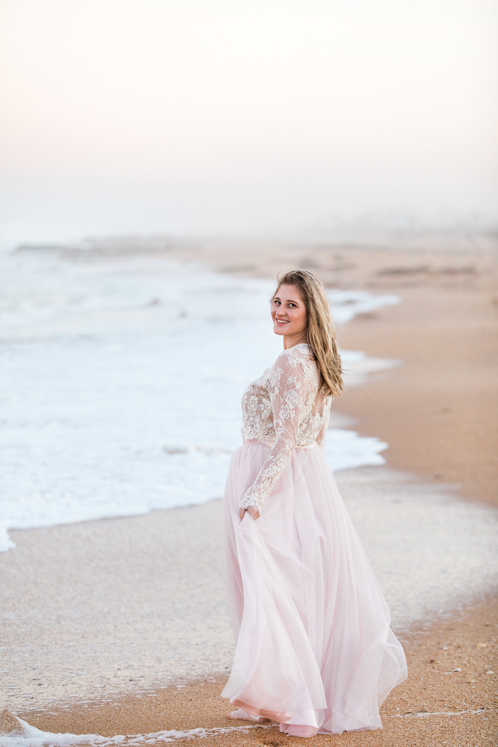 Engagement pictures with bride-to-be