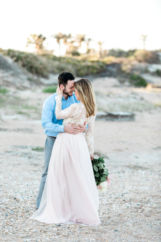 Romantic beach engagement photos in St.Augustine