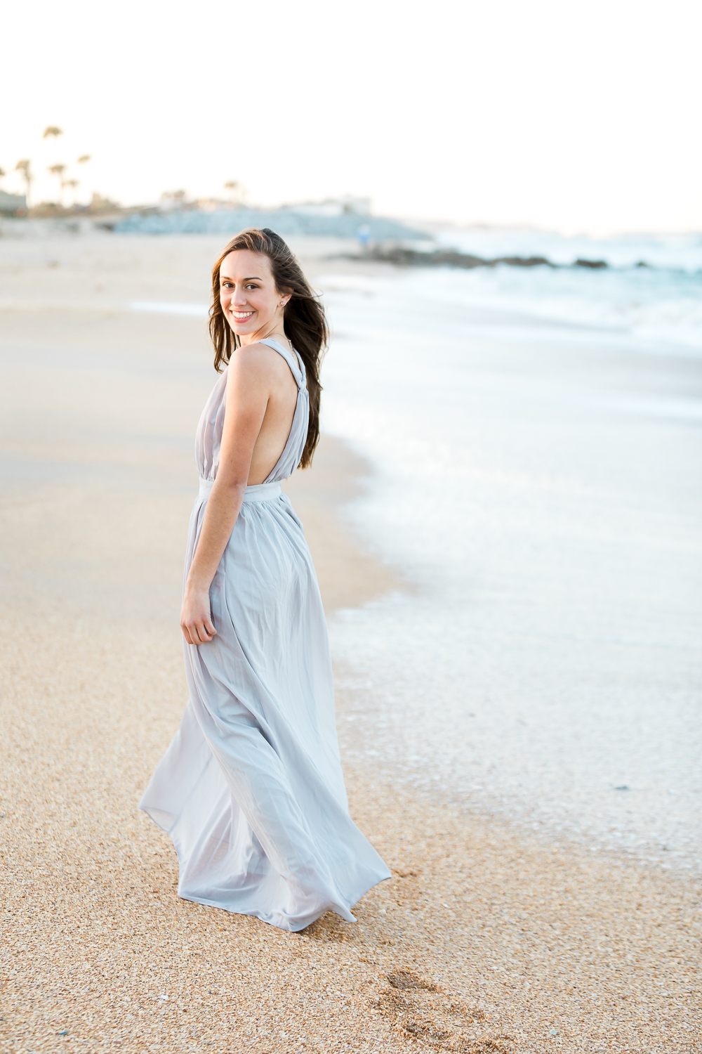 Hight school senior pictures at the beach