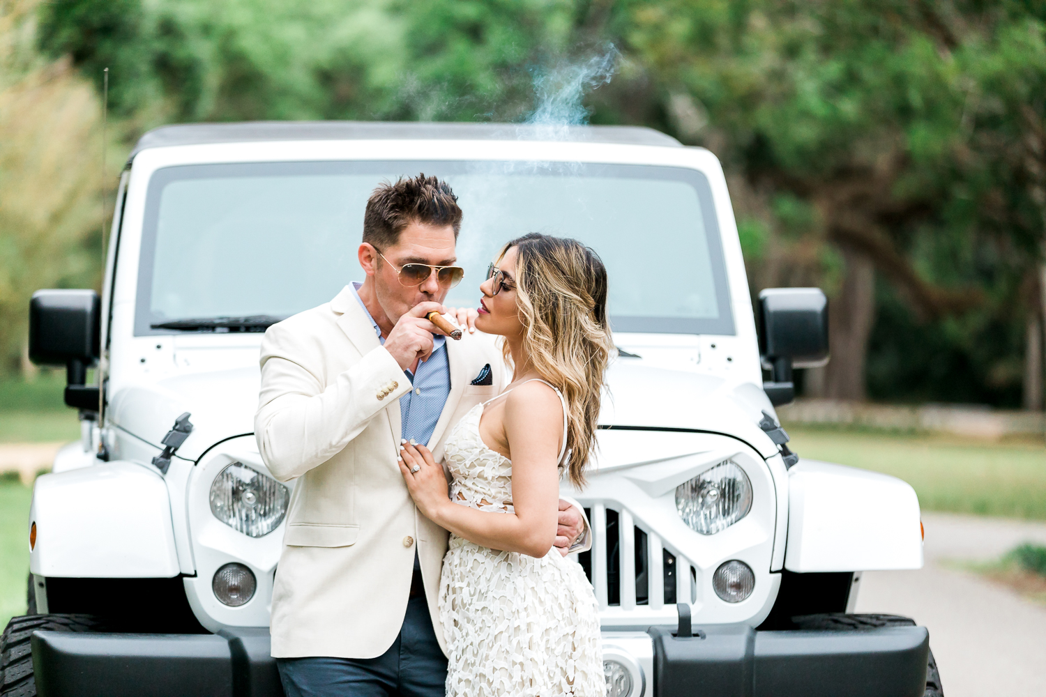 Sexy engagement pictures in Washington Oaks Gardens