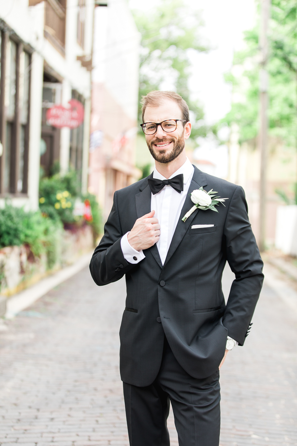 Groom in the streets of St.Augustine