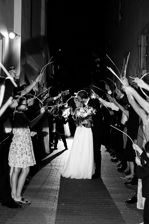 Glow stick wedding exit in St.Augustine