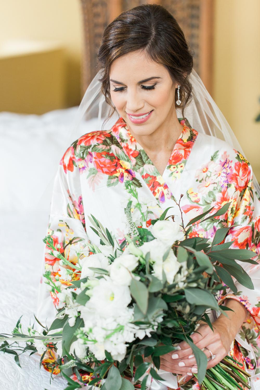 Bride getting ready in Casa Monica hotel