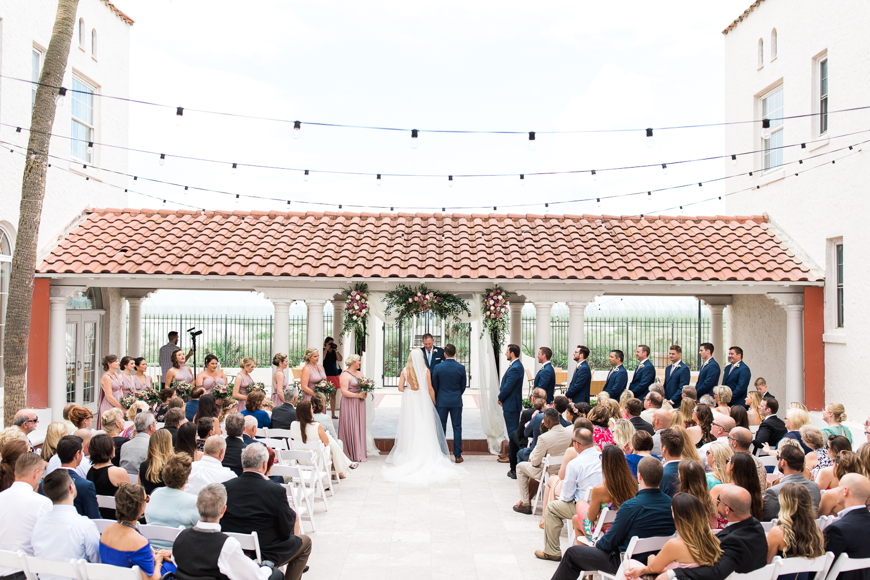 wedding ceremony in casa marina, jacksonville beach