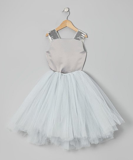 Blush grey top and tulle skirt - size 3T (runs big)  $15