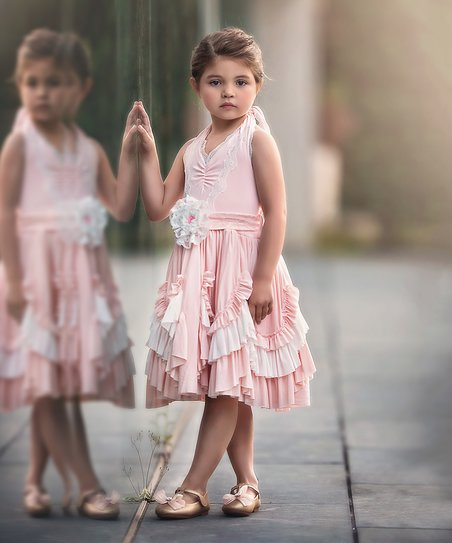 Trish Scully pink&white halter dress - size 4T  $20