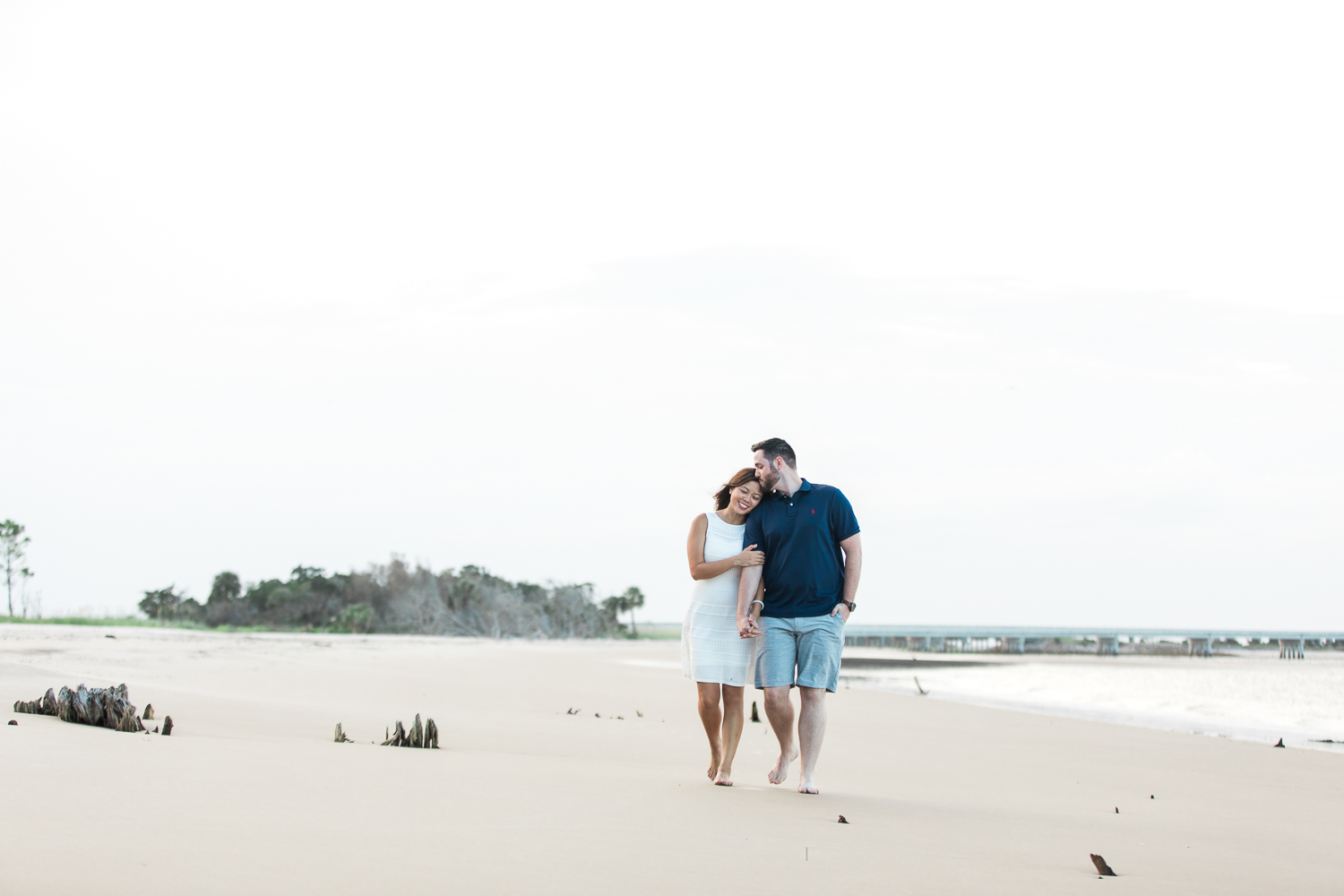 Big Talbot Island engagement session at the beach