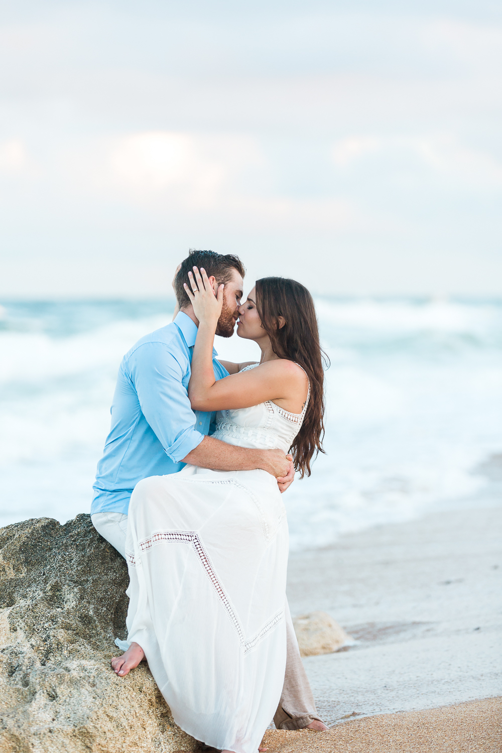 professional engagement pictures at the beach in st.augustine fl