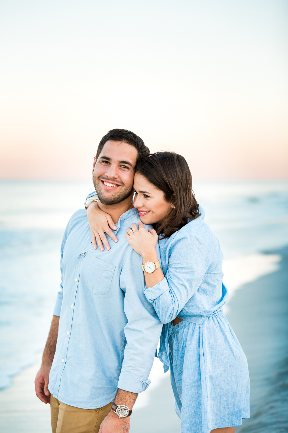 sunset beach engagement photos in ponte vedra, fl