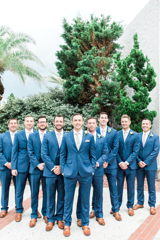 groom and groomsmen in casa marina wedding in jax beach