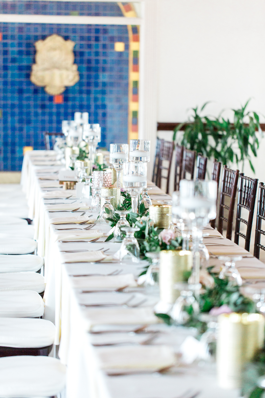 casa marina wedding reception + table setting ideas in jacksonville beach
