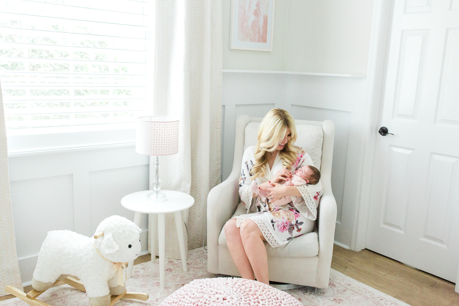 baby girl's newborn session in client's home in jacksonville golf and country club