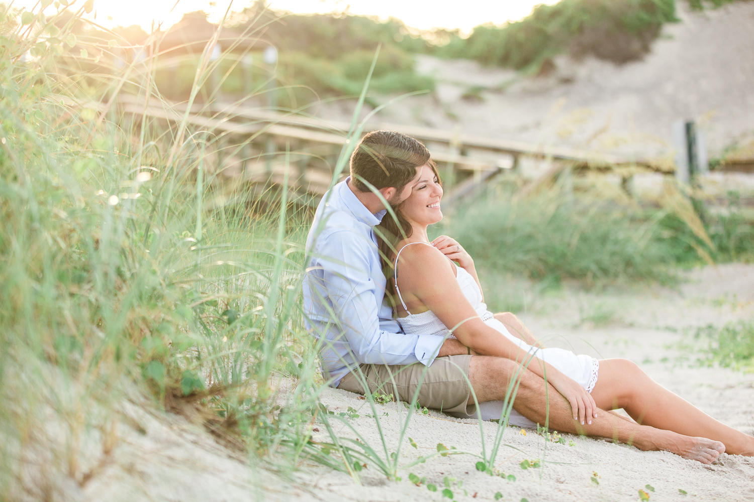 romantic beach engagement session in jacksonville fl